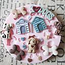 hesapli Dekorasyon Etiketleri-Bakeware araçları Silikon Çevre-dostu / Düğün Kek / Kurabiye / Tart karikatür Şekilli Pişirme Kalıp 1pc