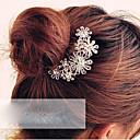 זול תכשיטים לשיער-מסרק שיער קריסטל / סגסוגת פרח אלגנטית בגדי ריקוד נשים / מסרקי שיער / מסרקי שיער