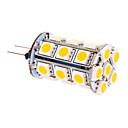 hesapli LED Mısır Işıklar-370 lm G4 LED Mısır Işıklar T 24 led SMD 5050 Sıcak Beyaz DC 12V