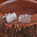 abordables Accesorios de Moda Personalizados-Regalos personalizados Gemelos Metal Unisex Negocios Glamouroso Modern Regalo