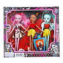 ieftine lanterne-Fashion Girl 3pcs Zombie Barbie Doll cu rochii și accesorii (Random Color)