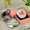 hesapli Kişiselleştirilmiş Yenilikçi Ürünler-Kişiye Hediye Kelebek Stil Pembe Krom Kompakt Ayna