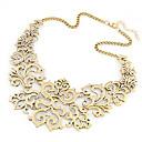 hesapli Kolyeler-Kadın's Yaka / Açıklama Kolye - Çiçek Bayan, Avrupa, Moda Gümüş, Altın Kolyeler Mücevher Uyumluluk Parti, Günlük