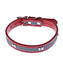 preiswerte Hundehalsbänder, Geschirre & Leinen-Katze Hund Halsbänder Regolabile / Einziehbar Reflektierend PU-Leder Schwarz Rose Rot Blau