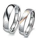 저렴한 반지-여성용 커플 링 / 약혼 반지 - 스테인레스 하트, 사랑 신부 5 / 6 / 7 실버 제품 결혼식 / 파티 / 생일 / 2pcs