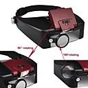 ieftine Microscop & Lupă-1.5 X 3X 8,5 xîn 10X LED Cască Șeful Lupa Optică Style Lupă