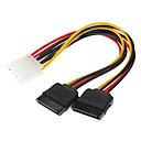 hesapli USB Kabloları-2 Serial ATA Sabit Disk HDD Güç Kablosu IDE (0.15M)