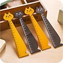 baratos Materiais de Escritório-forma gato régua de madeira (cor aleatória)