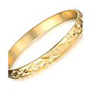 cheap Keychains-Women's Cuff Bracelet - 18K Gold Plated, Gold Plated Unique Design, Fashion Bracelet Gold For Wedding Party Daily