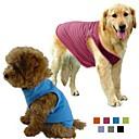 hesapli Köpek Yakalar, Kuşaklar ve Kayışlar-Köpek Tişört Köpek Giyimi Solid Gri Mor Gül Yeşil Mavi Pamuk Terylene Kostüm Evcil hayvanlar için