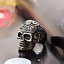 cheap Rings-Men's Band Ring - Stainless Steel Skull Fashion 8 / 9 / 10 Silver / Black For Christmas Gifts / Daily / Casual