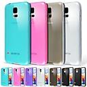 billige Etuier / covers til Galaxy S-modellerne-Etui Til Samsung Galaxy Samsung Galaxy etui Syrematteret / Gennemsigtig Bagcover Ensfarvet TPU for S5