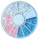hesapli Makyaj ve Tırnak Bakımı-1 pcs Tırnak Takısı İnci Sevimli tırnak sanatı Manikür pedikür Mevye / Çiçek / Soyut / Karikatür / Nail Jewelry / Punk / ABS