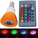 olcso LED gömbbúrás izzók-YWXLIGHT® 250-300 lm E14 LED szpotlámpák 1 led Nagyteljesítményű LED Távvezérlésű RGB AC 85-265V
