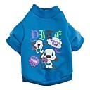 رخيصةأون أدوات الفرن-قط كلب T-skjorte ملابس الكلاب كارتون وردي أخضر أزرق قطن كوستيوم للحيوانات الأليفة
