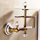 رخيصةأون أدوات الحمام-حاملة ورق التواليت قابل للنقل أنتيك نحاس كريستال خزفي 1 قطعة - حمام الفندق
