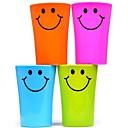 abordables Les Enfants de la Maison-multi-fonctions en plastique visage souriant brosse à dents tasse 360ml (couleur aléatoire)