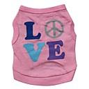 preiswerte Bekleidung & Accessoires für Hunde-Katze Hund T-shirt Hundekleidung Buchstabe & Nummer Rosa Baumwolle Kostüm Für Haustiere