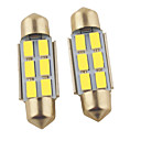 preiswerte LED Autobirnen-2pcs 36mm Auto Leuchtbirnen 1.2W SMD 5630 6
