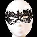 preiswerte Lolita Mode-Karnival Maske Herrn Damen Halloween Fest / Feiertage Halloween Kostüme Austattungen Schwarz Solide Spitze