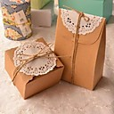 ieftine Cadouri-dreptunghi clasic de hârtie caseta de maro (includ cablul de iemp și dantelă) (1 buc)