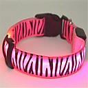hesapli Köpek Yakalar, Kuşaklar ve Kayışlar-Kedi / Köpek Yakalar LED Işıklar / Zebra Naylon Yeşil / Mavi / Pembe