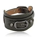 preiswerte Armbänder-Damen Lederarmbänder - Leder Armbänder Kaffee / Grün / Blau Für Weihnachts Geschenke Alltag