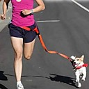 baratos Coleiras, Peitorais e Guias para Cães-Cachorro Mãos Leash gratuito Retratável Corrida Sensor Sólido Náilon Amarelo Vermelho Verde Azul Rosa claro