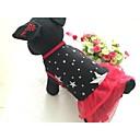 preiswerte Bekleidung & Accessoires für Hunde-Hund Kleider Hundekleidung Sterne Schwarz Rot Baumwolle Fasergemisch Kostüm Für Haustiere Damen Lässig/Alltäglich