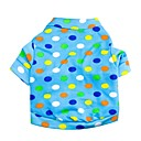 hesapli Köpek Giyim ve Aksesuarları-Köpekler için dalga nokta desen terylene t-shirt (mavi xs-l)