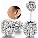 ieftine Cercei-Pentru femei Cercei Stud Clasic Plastic Ștras Diamante Artificiale cercei Bijuterii Argintiu Pentru Nuntă Petrecere Zilnic Casual
