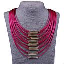 hesapli Yüzükler-Kadın's Açıklama Kolye / Bib kolye - İfade, Vintage, Moda Kırmzı, Mavi, Fuşya Kolyeler Mücevher Uyumluluk Parti, Özel Anlar, Doğumgünü