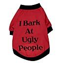 preiswerte Bekleidung & Accessoires für Hunde-Katze Hund T-shirt Hundekleidung Buchstabe & Nummer Rot Baumwolle Kostüm Für Haustiere Herrn Damen Niedlich Halloween
