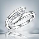 hesapli Yüzükler-Kadın's Bildiri Yüzüğü - alaşım Moda 7 / 8 Uyumluluk Düğün / Parti / Günlük / Zirkon