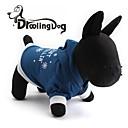 preiswerte Bekleidung & Accessoires für Hunde-Kapuzenshirts für Hunde / Katzen Blau Frühling/Herbst XS / S / M / L Baumwolle