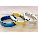 hesapli Bilezikler-Kadın's Bildiri Yüzüğü - Titanyum Çelik Moda 5 / 6 / 7 Gümüş / Mavi / Altın Uyumluluk Düğün / Parti / Günlük