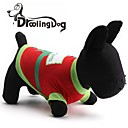 preiswerte Bekleidung & Accessoires für Hunde-droolingdog® Sankt kleines Geschenk Muster Baumwolle T-Shirt für Hunde (Farbe sortiert)