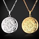 hesapli Bilezikler-Kadın's Yüzen Madalyon / minyatür Gerdanlıklar / Uçlu Kolyeler / Lockets Kolye - Altın Kaplama Moda Gümüş, Altın Kolyeler Mücevher Uyumluluk Düğün, Parti, Günlük / Vintage Kolye / Kolye Uçları