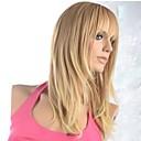ieftine Machiaj & Îngrijire Unghii-Peruci Sintetice Drept Stil Fără calotă Perucă Blond Maro Auriu cu Blond Păr Sintetic Pentru femei Blond Perucă 120% Human Densitate par negru Peruca