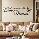 hesapli Ev Dekorasyonu-Sözler ve Alıntılar Duvar Etiketler Uçak Duvar Çıkartmaları Dekoratif Duvar Çıkartmaları, PVC Ev dekorasyonu Duvar Çıkartması Duvar