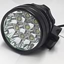 preiswerte Halsketten-3 Stirnlampen Radlichter LED 8000LM Lumen 3 Modus Cree XM-L U2 6 x Batterien 18650 Wiederaufladbar Wasserfest Nachtsicht für Camping /
