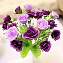 hesapli Yapay Çiçekler-Yapay Çiçekler 1 şube Avrupa Tipi Güller Masaüstü Çiçeği