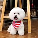 preiswerte Hundehalsbänder, Geschirre & Leinen-einstellbar Leinwand und Nylon rot Amerika Flagge Muster Dreieck Halstuch für Hunde (verschiedenen Größen)