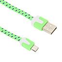 ieftine Aurii cu fir cu fir-Micro USB 2.0 / USB 2.0 Cablu 2m-2.99m / 6.7ft-9.7ft Plat / Împletit Nailon Adaptor pentru cablu USB Pentru