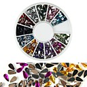 cheap Makeup & Nail Care-600pcs 12 color drop shaped diamond nail art decoration