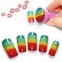 ieftine Baloane-Unelte pentru unghii Pentru Unghie Unghie deget picior Negru nail art pedichiura si manichiura Clasic Zilnic