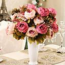 رخيصةأون ملصقات ديكور-زهور اصطناعية 1 فرع الحديث الفاوانيا أزهار الطاولة