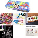 preiswerte Regenbogen Loom-Bildungsspielsachen Spaß Silikon Klassisch Kinder Jungen Mädchen Spielzeuge Geschenk