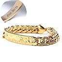 Недорогие Именные аксессуары-Персонализированные ювелирные изделия - Гламур - браслеты - медь - золото -