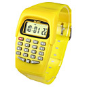 cheap Key Chains-Kid's Fashion Watch Digital Watch Japanese Quartz Digital 30 m Calendar / date / day Casual Watch Rubber Band Digital Candy color Yellow - Yellow Two Years Battery Life